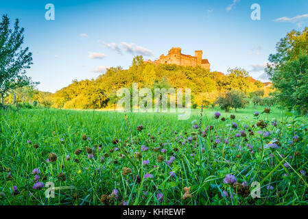 Castelnau castle in Prudhomat Bretenoux France - Stock Photo