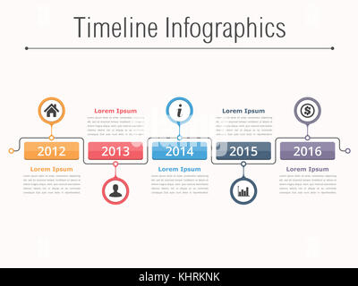 Timeline Infographics Design Template Process Diagram Stock Photo - Process timeline template