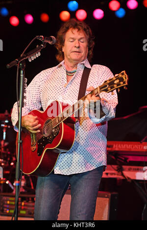 POMPANO BEACH, FL - FEBRUARY 10: Henry Paul of The Outlaws performs at The Pompano Beach Amphitheater on February - Stock Photo