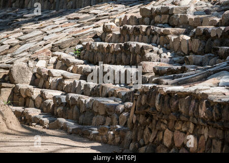 Mexico, Oaxaca, Huatulco. Copalita, Eco-Archeological Park. Restored archaeological remains of ancient city of Copalitan, - Stock Photo