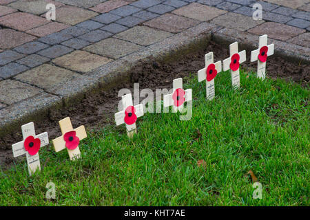 Artificial Remembrance Day Poppies In A Garden Stock Photo 54349097