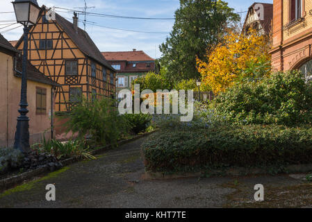 village Barr, on the Wine Route of Alsace, France - Stock Photo