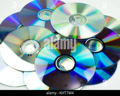 compact disc on white background - Stock Photo