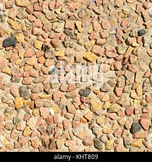 Colorful pebble stone flooring textured - Stock Photo