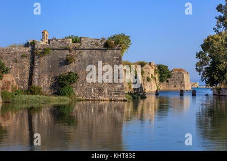 Castle of Agia Maura at Lefkada island, Greece - Stock Photo