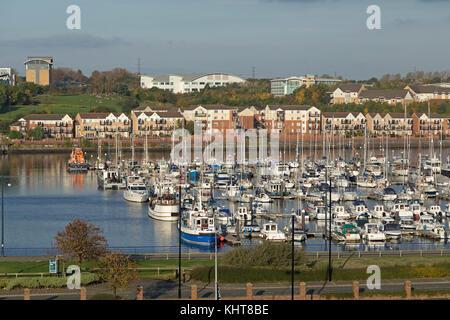 marina, North Shields, Northumberland, Great Britain - Stock Photo