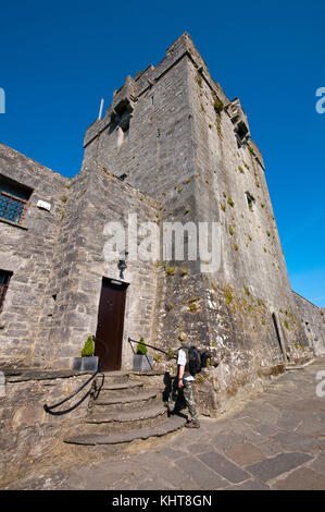 Tower of Dunguaire castle, Kinvarra, County Galway, Ireland - Stock Photo