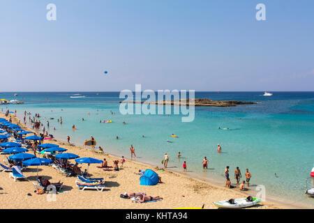 Fig Tree Bay, Protaras, Famaguta, Cyprus. 14th June 2017. Credit: Tove Larsen/Alamy - Stock Photo
