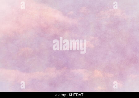 spring pink paper texture with cloudy blue sky - Stock Photo