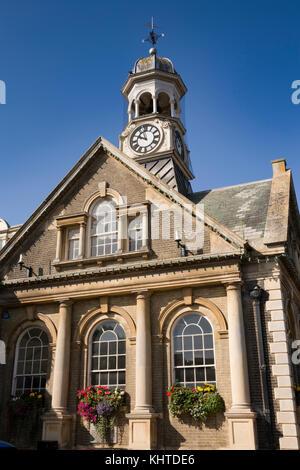 UK, England, Norfolk, Thetford, Market Place, Guildhall - Stock Photo