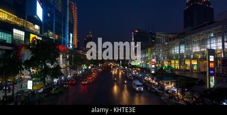Bangkok city centre at night - Stock Photo