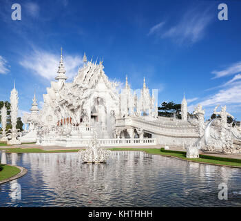 White Temple (Wat Rong Khun) in Chiang Rai Province, Thailand - Stock Photo