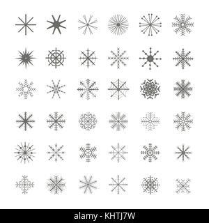 Christmas Snowflake set - Stock Photo