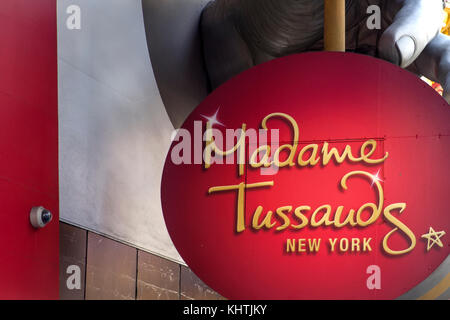 Detail of te Madame Tussauds New York. It is a wax museum established in 2000. - Stock Photo