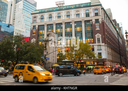NEW YORK CITY - OCTOBER 21, 2017: View of Macy's Department Store in Herald Square, midtown Manhattan with people - Stock Photo