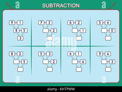 illustration of kids learning math Stock Photo: 59127598 - Alamy