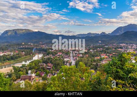 Viewpoint and beautiful landscape in luang prabang, Laos. - Stock Photo