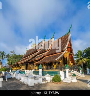 Wat Xieng Thong temple, Luang Prabang, Laos - Stock Photo