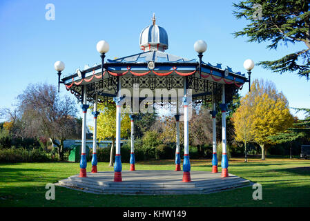 Bandstand in Priory Park Prittlewell Southend on Sea, Essex. Space for copy - Stock Photo