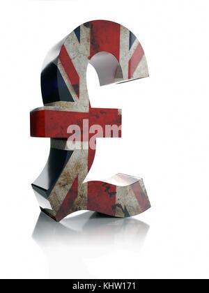 Pound Sterling Currency Symbol Stock Photo 12575913 Alamy