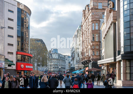 Cranbourn Street, Leicester Square, West End, City of Westminster, Greater London, England, United Kingdom - Stock Photo