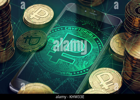Golden Ruble Symbol 3d Illustration Stock Photo 111307207 Alamy
