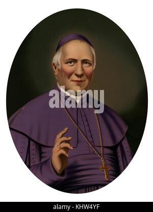 Portrait of Pope Pius IX (1792-1878) born Giovanni Maria Mastai-Ferretti. Dated 19th Century - Stock Photo