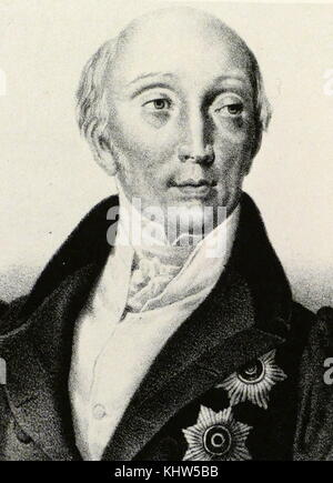 Portrait of Mikhail Speransky (1772-1839) a Russian reformist during the reign of Alexander I of Russia, to whom - Stock Photo