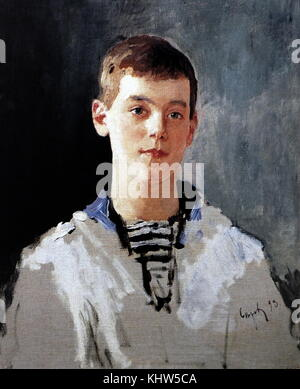 Portrait of Grand Duke Michael Alexandrovich of Russia (1878-1918) youngest brother of Nicholas II. Dated 19th Century - Stock Photo