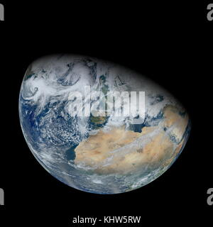 Photograph of Earth, taken from space, showing North Africa and Europe. Dated 21st Century - Stock Photo