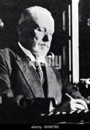 Photographic portrait of Mikhail Rodzianko (1859-1924) a Russian politician, statesman and 5th Chairman of the State - Stock Photo