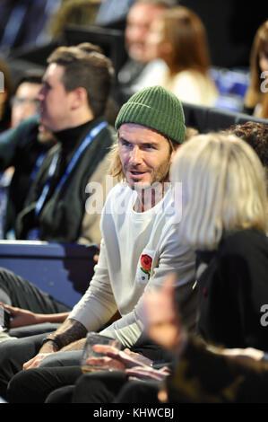 London, UK. 19th Nov, 2017. David Beckham at the Singles Finals, Nitto ATP Finals, O2 Arena, London, UK David Robert - Stock Photo