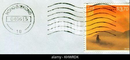 GOMEL, BELARUS, 19 NOVEMBER 2017, Stamp printed in HONG KONG, China shows image of the Fog, circa 2014. - Stock Photo