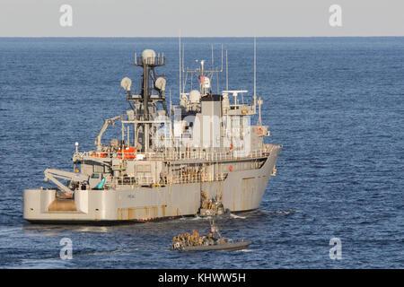 U.S. Marines with the Maritime Raid Force (MRF), 26th Marine Expeditionary Unit (MEU), raid the Training Support - Stock Photo