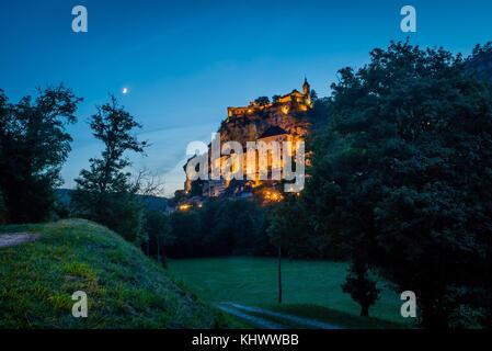 Rocamadour in Vallée de la Dordogne, Lot, France - Stock Photo