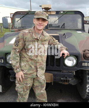 Sgt. Lukasz Szpakowski, an M1A2 Abrams tank systems maintainer assigned to 1st Battalion, 63rd Armor Regiment, 2nd - Stock Photo