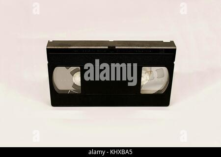 Old video cassette tapes - Stock Photo