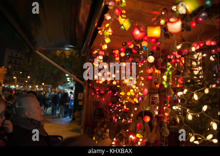 Christmas markets of Barcelona - Stock Photo
