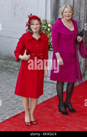 BRUSSELS, BELGIUM - NOVEMBER 20:  Bernardo Guillermo and partner Eva Prinz-Valdes attends Princess Annemarie Gualtherie - Stock Photo