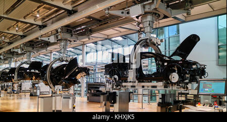 Europe, Saxony,   the Transparent Factory, Transparent Factory is the English name of an automobile production plant - Stock Photo