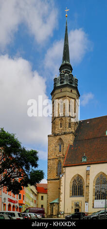 Europe, Germany, Saxony, Bautzen, The old town , the cathedral St-Petri - Stock Photo