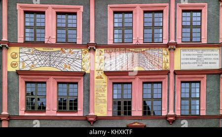 Europe, Germany, Saxony, Görlitz, The old town, The Unter Markt square - Stock Photo