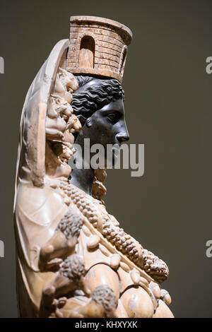 Naples. Italy. Artemis of Ephesus, ancient Roman sculpture, 2nd century A.D. Museo Archeologico Nazionale di Napoli. - Stock Photo