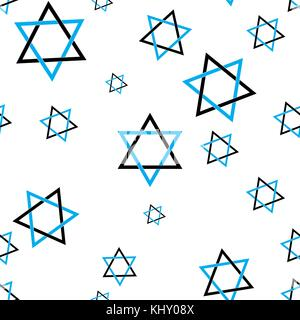 Star of David pattern seamless flat style for web vector illustration - Stock Photo