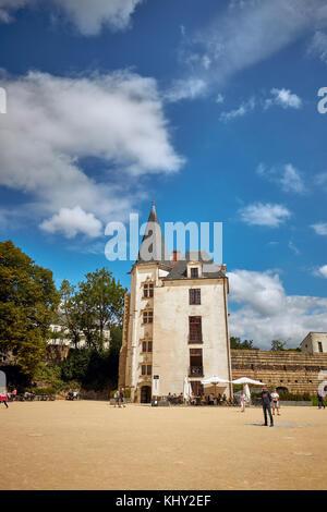 Château des ducs de Bretagne in Nantes, Loire-Atlantique, Pays de la Loire, France. - Stock Photo