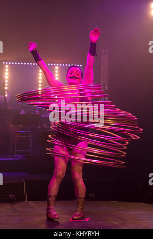 Edinburgh, Scotland, United Kingdom. , . Cabaret group La Clique present their Christmas show La Clique Noel at - Stock Photo