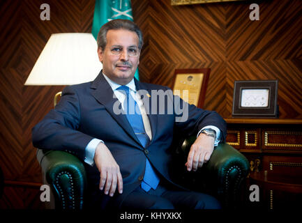 Prague, Czech Republic. 15th Nov, 2017. Naif Al Aboud, new Ambassador of the Kingdom of Saudi Arabia to Czech Republic, - Stock Photo