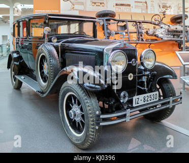 Europe, Germany, Saxony, Zwickau city, The August Horch Museum, AUDI car 1930 - Stock Photo