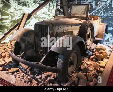 Europe, Germany, Saxony, Zwickau city, The August Horch Museum, the war result - Stock Photo