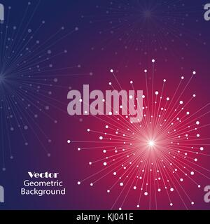 Vector geometric background - Stock Photo